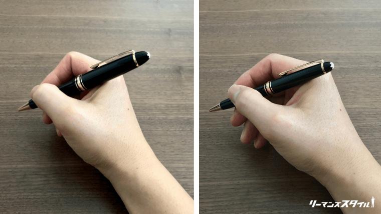 モンブランボールペン サイズ感